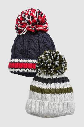Next Boys Multi Bobble Beanies Two Pack (Younger)