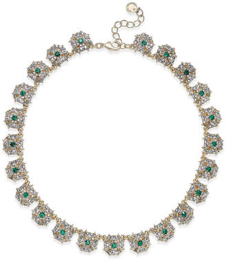 Charter Club Gold-Tone Blue & Clear Crystal Necklace, Created for Macy's