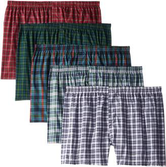 Fruit of the Loom Men's Big and Tall Size Tartan Boxers