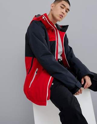 Wear Colour Wear Color Block Jacket in Red/Black