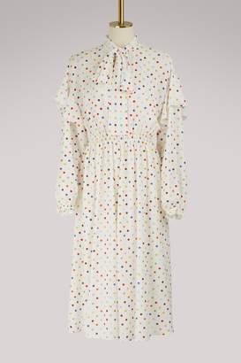 Valentino Long-sleeved midi dress