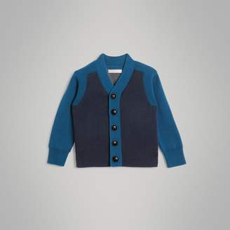 Burberry Childrens Colour Block Cotton Cardigan