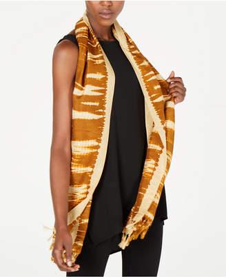 Eileen Fisher Silk Fringe-Trim Wrap Scarf