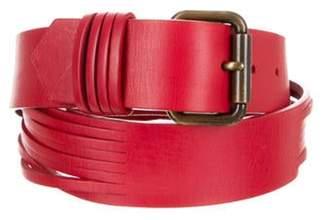 Fendi Leather Hip Belt Red Leather Hip Belt