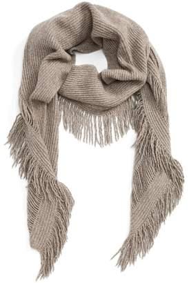 Stella McCartney Fringe Cashmere & Wool Scarf