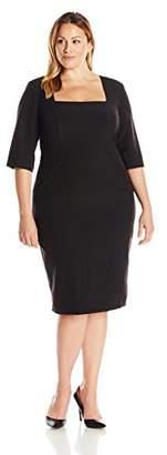 Single Dress Women's Plus Size Square Neck Elbow Sleeve $245.25 thestylecure.com