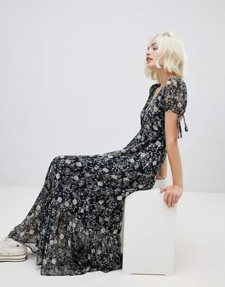 Emory Park short sleeve maxi dress in vintage floral