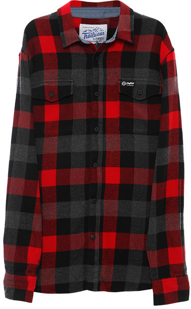 Chatham Buffalo Plaid Flannel Shirt in Red