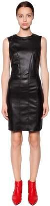 Drome Stretch Nappa Leather Mini Dress