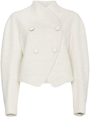 Re-edition wool cotton-blend double breasted jacket