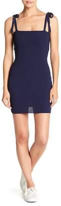 EMORY PARK Tie Strap Ribbed Mini Dress