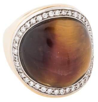 Roberto Coin 18K Diamond & Tiger's Eye Cocktail Ring