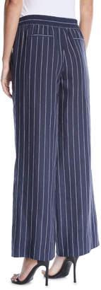 Lafayette 148 New York Allen Striped Linen Wide-Leg Pants
