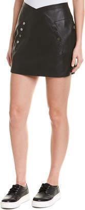 BCBGMAXAZRIA Snap Mini Skirt