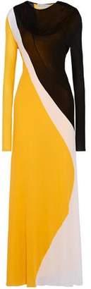 Emilio Pucci Color-Block Crepe De Chine Gown