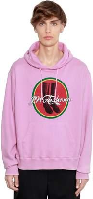 J.W.Anderson Printed Hooded Cotton Jersey Sweatshirt