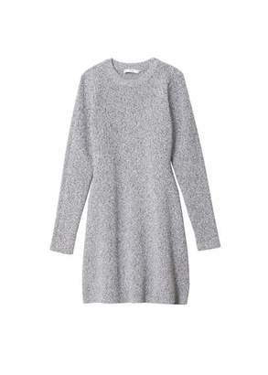 Tibi Tech Poly Mini Sweater Dress