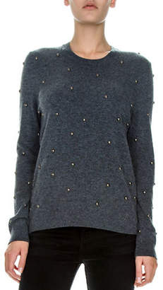 The Kooples Embellished Wool and Cashmere Pullover