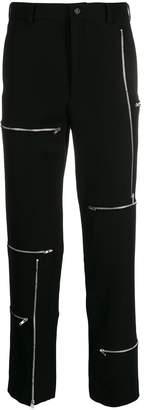 Comme des Garcons gabardine zip detail trousers