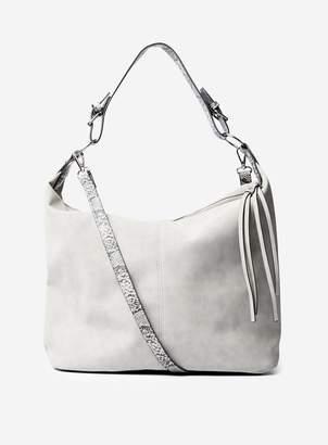 Dorothy Perkins Womens Grey Buckle Handle Hobo Bag