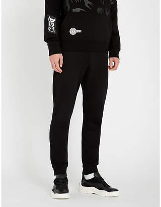 McQ Logo-patch cotton-jersey jogging bottoms