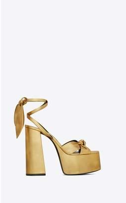 Saint Laurent Paige Sandals In Metallic Leather
