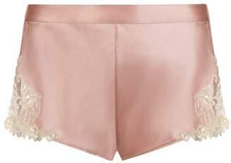 La Perla Maison Powder Pink Silk Satin French Knickers With Frastaglio