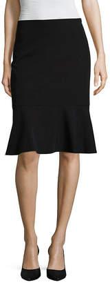 WORTHINGTON Worthington Suiting Flounce Skirt - Tall