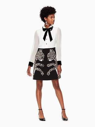 Kate Spade Leopard applique dress