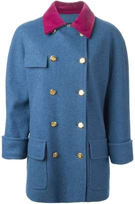 ae5c36a85 Chanel PRE-OWNED velvet collar coat