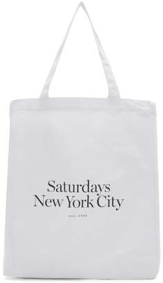Saturdays NYC White Miller Standard Tote