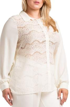 Standards & Practices Coco Lace Front Shirt