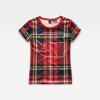 G Star Royal Tartan X25 Print Straight T-Shirt