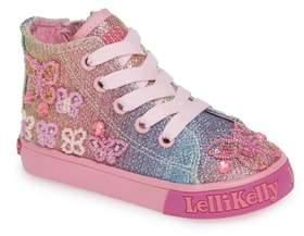 Lelli Kelly Kids Beaded High Top Sneaker