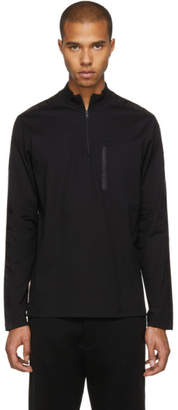 Prada Black Long Sleeve Tech Zip Turtleneck