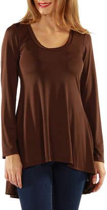 24/7 Comfort Apparel High-Low Tunic Top