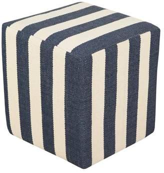 Surya Picnic Cube Pouf, Blue