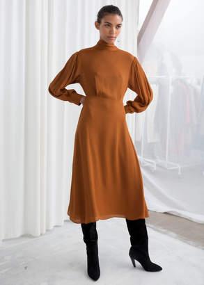 d96da82e8b18c And other stories Sheer Stripe Midi Dress