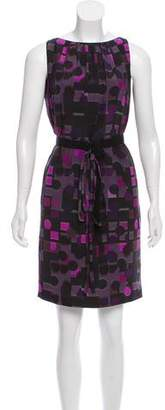 Akris Punto Silk Abstract Print Dress