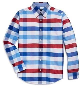Brooks Brothers Boys' Plaid Oxford Sport Shirt - Big Kid