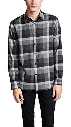 Theory Men's Menlo Oversized Check Long Sleeve Woven