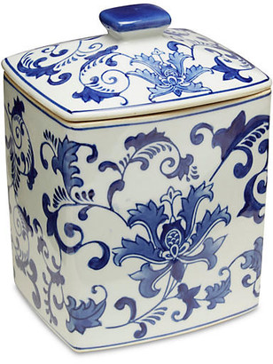 "One Kings Lane 8"" Nanine Canister - Blue/White"