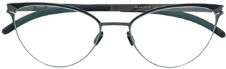 Mykita cat eye frame glasses