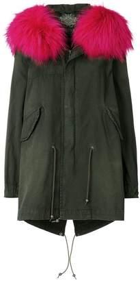 Mr & Mrs Italy fur trimmed hooded parka coat