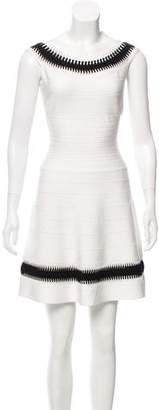 Herve Leger Off-The-Should Mini Dress