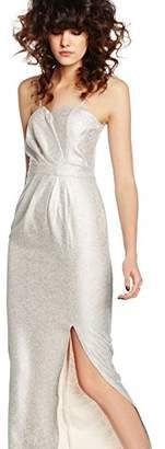 Elise Ryan Women's Sweetheart Maxi with Side Split Dress,6