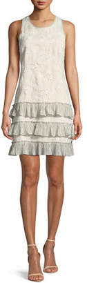 Rebecca Taylor Garden-Eyelet Sleeveless Linen Dress