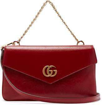 Gucci Thiara Gg Leather Shoulder Bag - Womens - Black Red