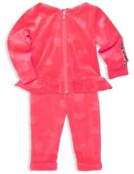 Billieblush Baby Girl's& Little Girl's Velour Peplum Jacket& Pants Jogging Set