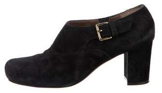 Marni Suede Round-Toe Booties